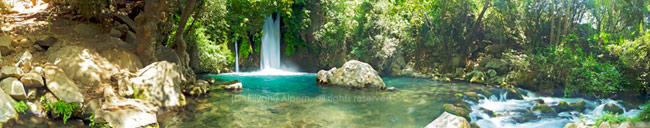 The Banias, Eliyahu Alpern Israel Panoramic Photography