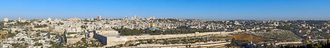 Jerusalem from the Mount of Olives, Eliyahu Alpern, Israel Panoramic Photography