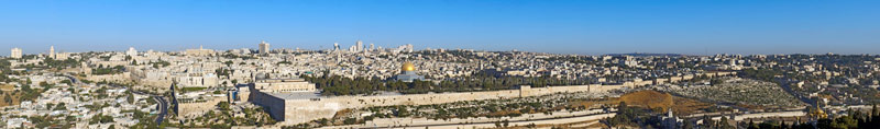 Old City of Jerusalem Panorama from Mount of Olives