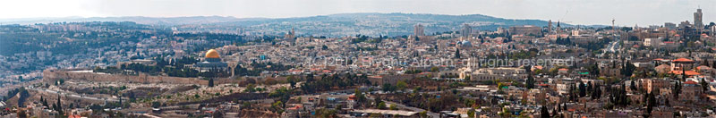Old City of Jerusalem from Mt Scopus
